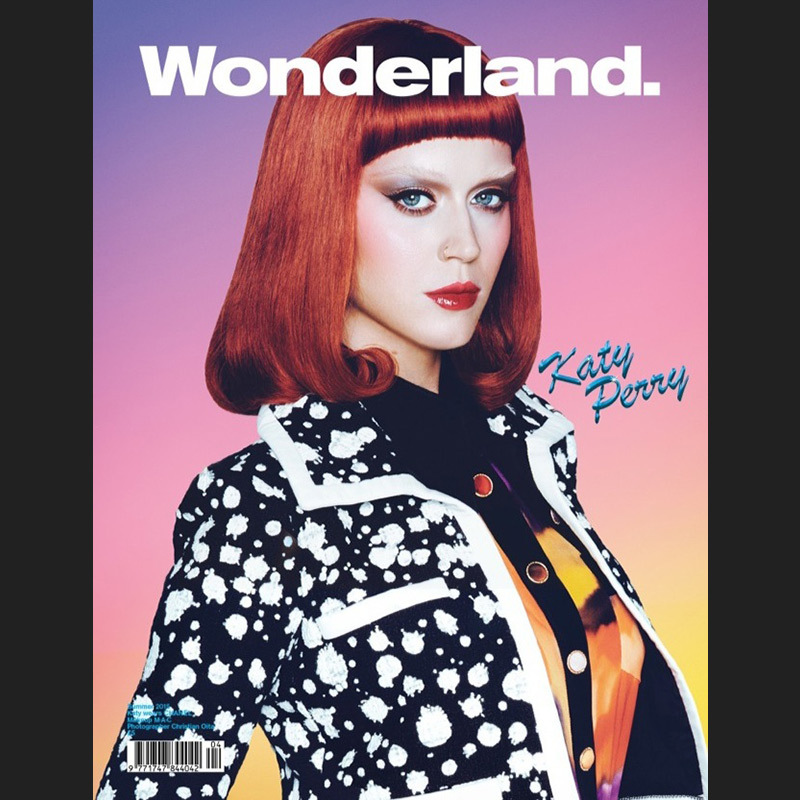 Red hair, don't care! Katy Perry also lost her brows on the other-worldly cover of Wonderland's 2015 summer issue.