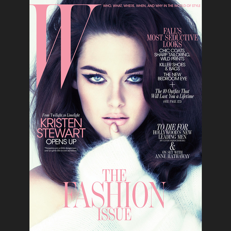 Kristen Stewart gets the Lana Del Rey treatment and showed off her softer side in W's September 2011 issue.