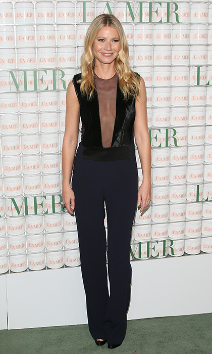 Props go out to Gwyneth Paltrow in this two-tone Galvan jumpsuit, which perfectly flattered her statuesque frame.