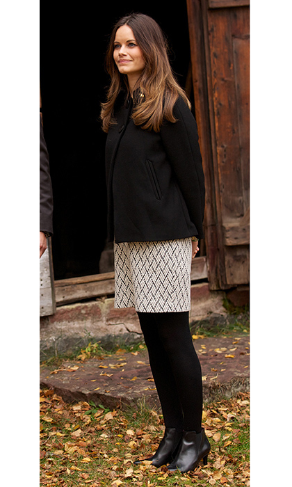 Sofia embraced a more comfortable ensemble during a visit 