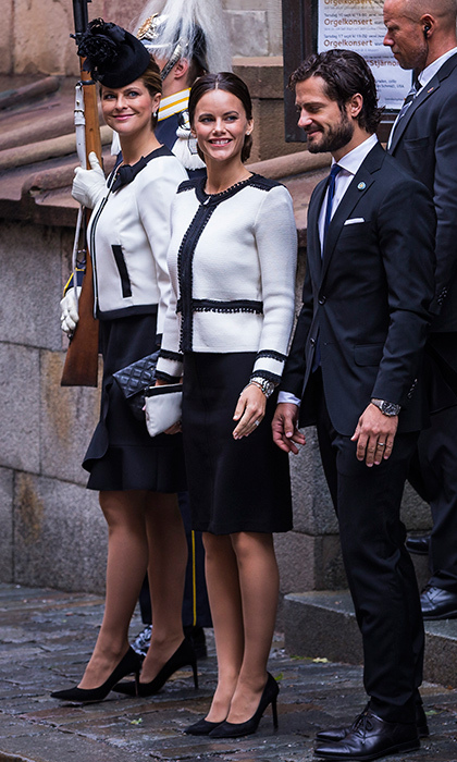 Princess Madeleine and Sofia were twinsies at a church service following the Opening of Parliament.