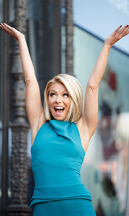 Queen of morning talk shows Kelly Ripa celebrates after receiving her star on Hollywood's Walk of Fame. Photo: © Getty Images