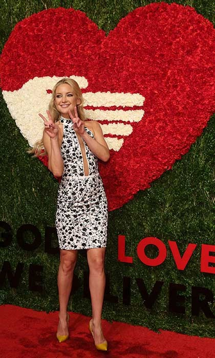 Kate Hudson shows off her enviable figure in custom Michael Kors at the 2015 God's Love WE Deliver Golden Heart Awards. Photo: © Getty Images