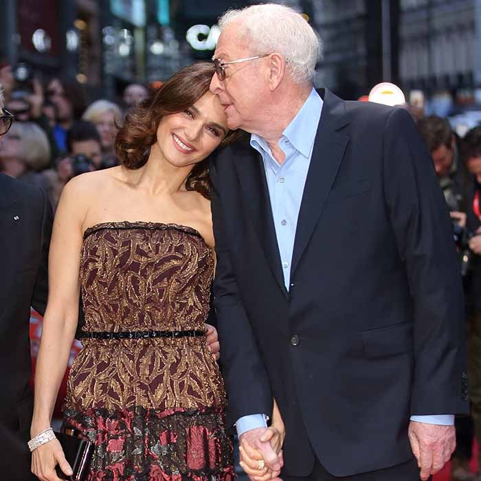 'Youth' co-stars Rachel Weisz and Sir Michael Caine share a tender moment at the film's premiere during the BFI London Film Festival. Photo: © Getty Images