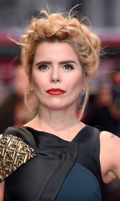 Paloma Faith looked every inch a beauty icon with a statement red lip and slightly dishevelled halo braid for the screening of Youth.