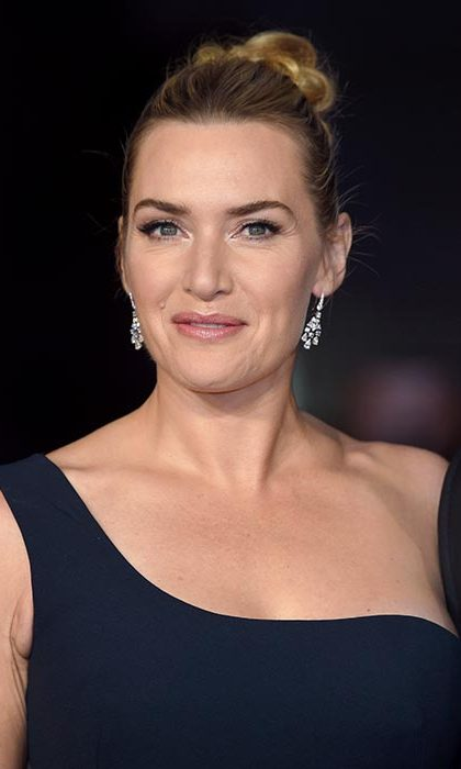 Kate Winslet opted for a chic updo at the Steve Jobs premiere.
