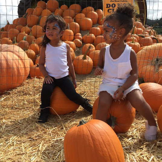 "Kim Kardashian: ""bff's at the pumpkin patch ""