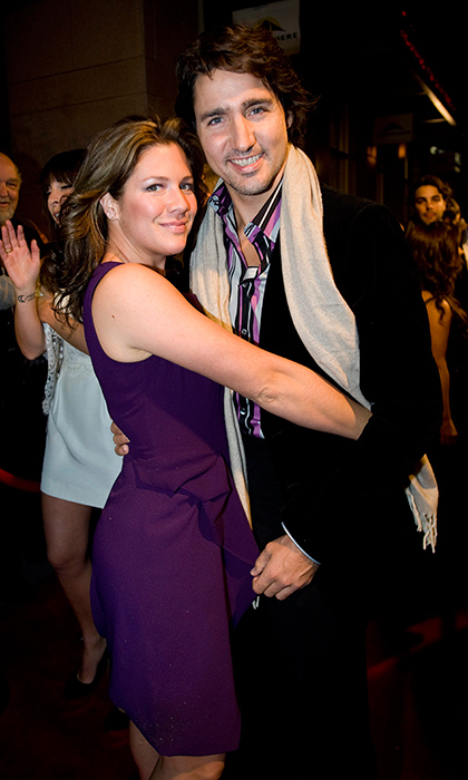 It looks like the cute couple coordinated their ensembles for Quebec's music awards, Adisq, in 2011. The future Prime Minister and his broadcast journalist wife hit the town in Montreal and had no trouble taking a moment for a loving squeeze.