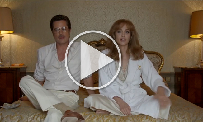 video of the day brad pitt and angelina jolie behind the