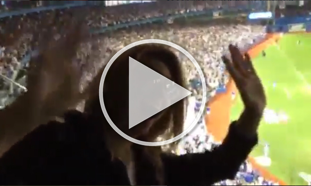 Video Of The Day Shania Twain Cheers On The Blue Jays