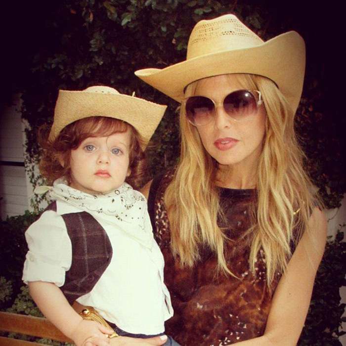Rachel Zoe did her best cowgirl to celebrate with her tiny cowboy, Skyler, in 2012.