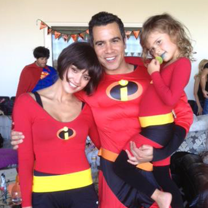 Jessica Alba, husband Cash Warren and their daughters Honor and Haven became another superhero family, The Incredibles, for a Halloween party in 2012.