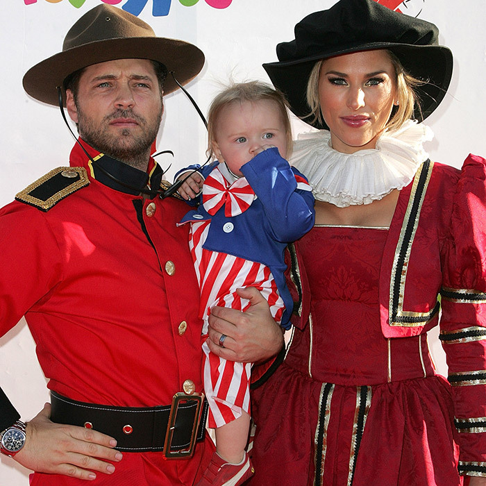 The Priestley family kept their colour scheme co-ordinated! Jason celebrated a very Canadian Halloween dressed as a Mountie with wife Naomi and daughter Ava at the 2008 Dream Halloween bash in Los Angeles. 