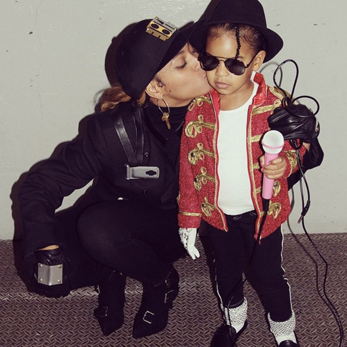 Blue Ivy's Michael Jackson costume last year was the perfect complement to mom Beyoncé's Janet Jackson ensemble.