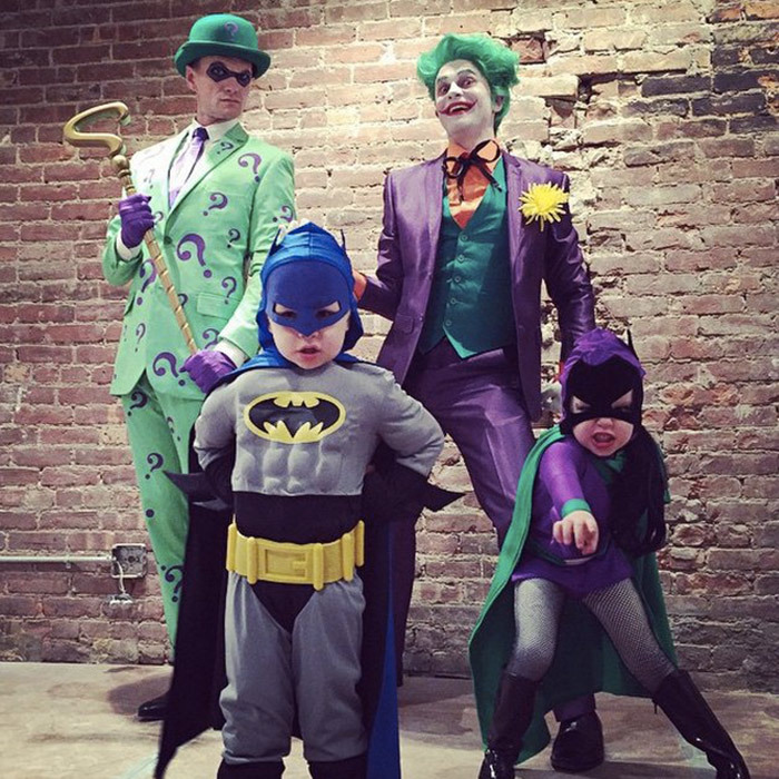 It was a Gotham City family affair last year as Neil Patrick Harris and husband David Burtka transformed into The Riddler and The Joker, respectively, and their twins Gideon and Harper played Batman and Batgirl.