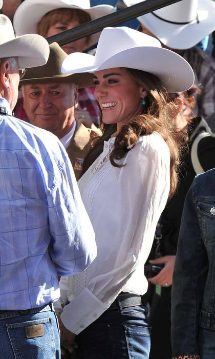 The royal embraced rodeo fashion when she attended the Calgary Stampede in Canada in 2011 wearing a cowboy hat.