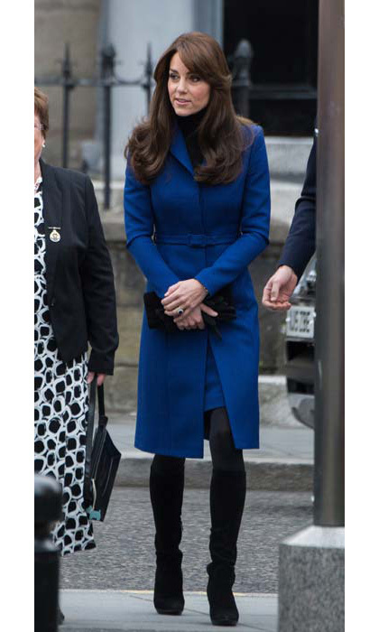 The Duchess championed Scottish fashion, wearing Christopher Kane as she visited Dundee.