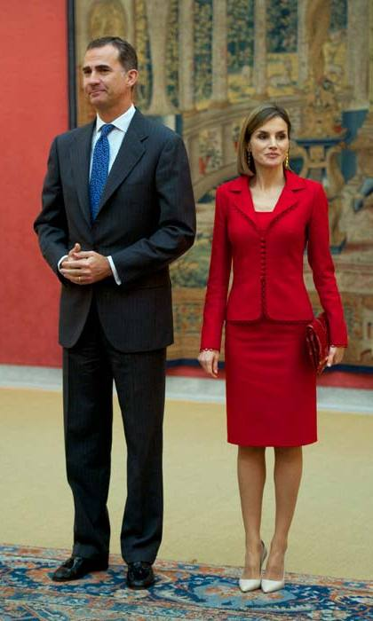 King Felipe and Queen Letizia.