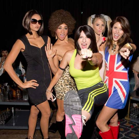 Nina Dobrev and friends were the Spice Girls, with Nina taking on Victoria Beckhams' Posh Spice.