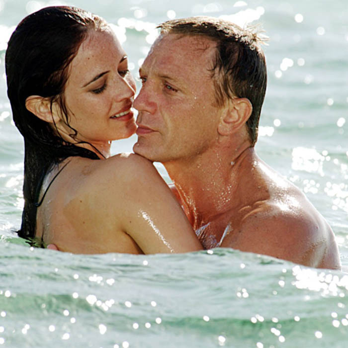 French actress Eva Green as double agent Vesper Lynd gets into some hot waters with Daniel Craig as the latest onscreen Bond incarnate in 2006's 'Casino Royale.' 