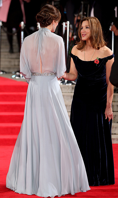 Kate with producer Barbara Broccoli.