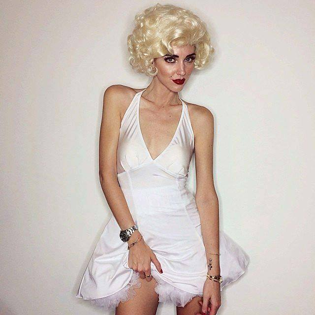 Chiara Ferragni as Marilyn Monroe.