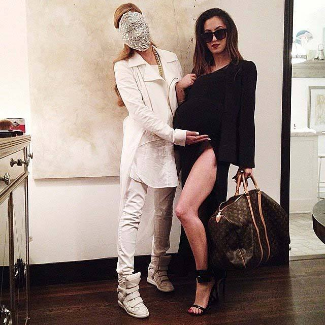 Dani and Aimee from Song of Style as Kanye West and Kim Kardashian.