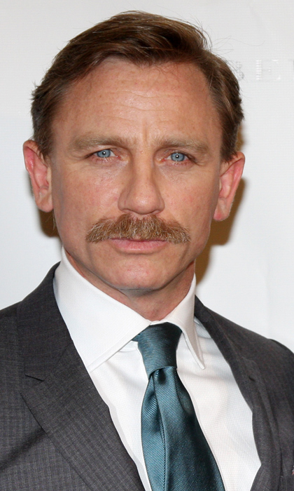 James Bond himself, a.k.a. Daniel Craig, flirted with a moustache back in 2009 for his role in the Broadway production of 'A Steady Rain.' Despite the facial fluff, the ladies still go wild for Daniel!
