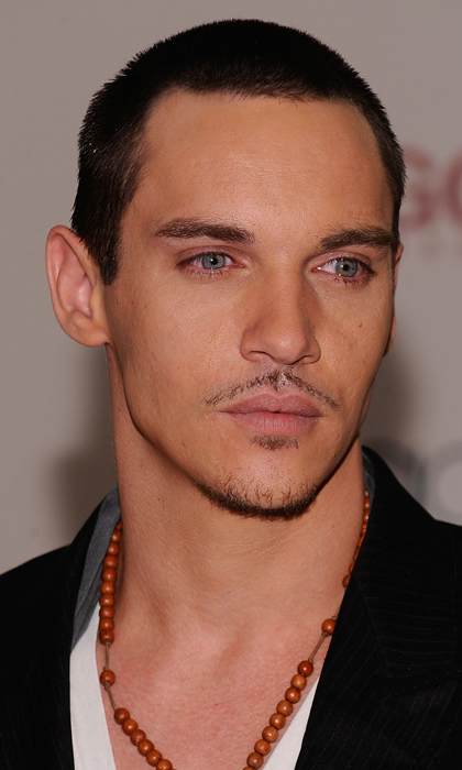 Yes, there was a time (2009, to be exact) when Jonathan Rhys Meyers did the pin-thin 'stache! He accessorized with a beaded necklace and a pensive gaze.