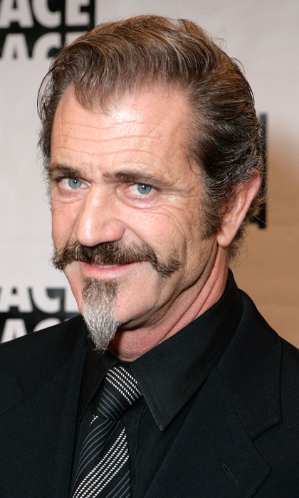 Definitely the most aggressive whiskers of the lot, Mel Gibson does his best Colonel Sanders at the ACE Eddie Awards in 2009.