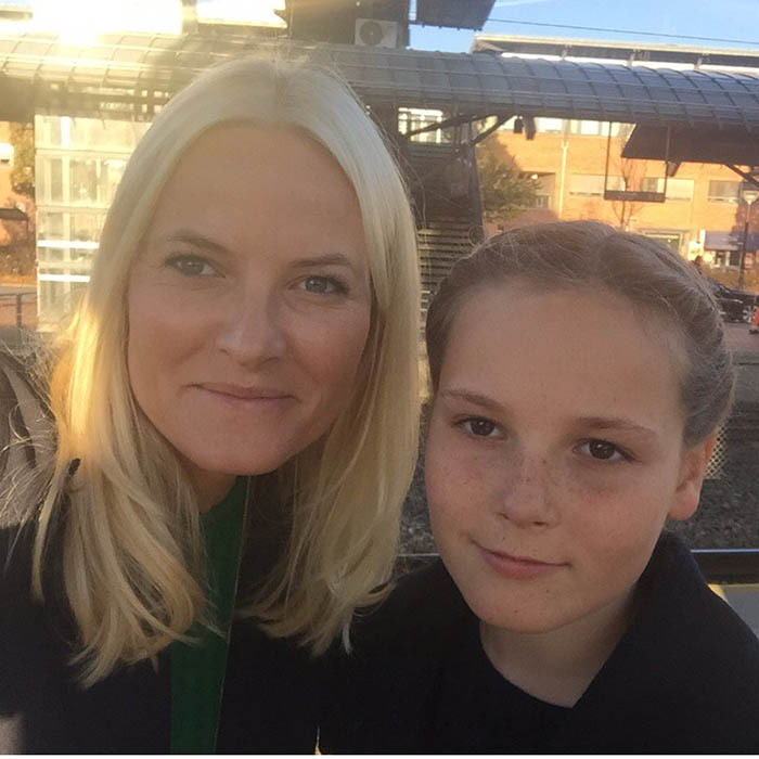 Norway's Princess Mette-Marit shared a selfie of posing with her lookalike 11-year-old daughter and future Queen, Princess Ingrid.  