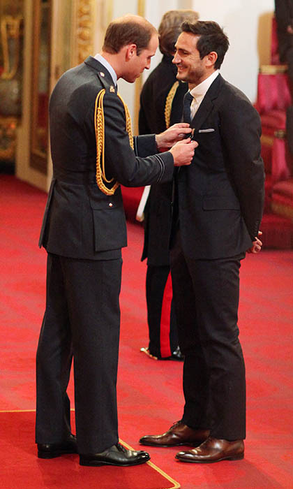 Prince William appointed former soccer star Frank Lampard an Officer of the Order of the British Empire (OBE) during an investiture at Buckingham Palace. 