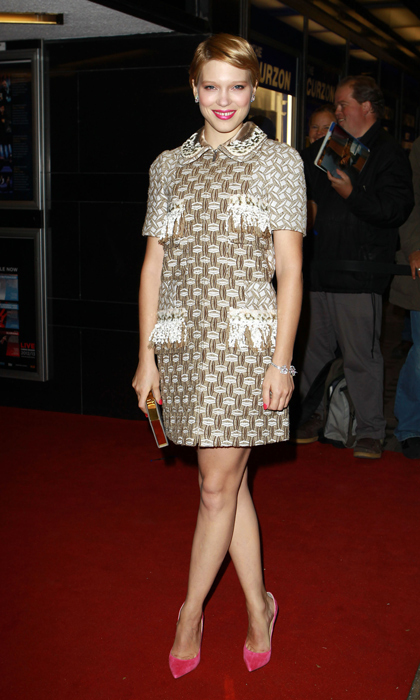 The blond  beauty took her metallic Louis Vuitton dress to the next level at the premiere of 'Sister' in 2012 thanks to punchy pink pumps.