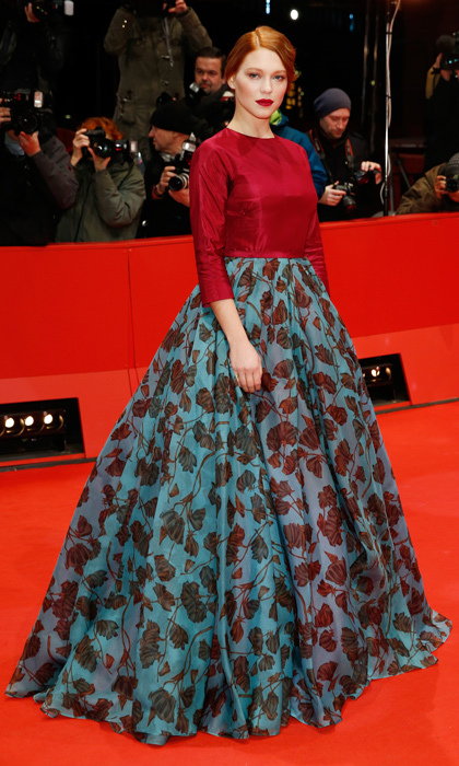 Léa pumped up the volume in floral Prada at the 2014 Berlin Film Festival. 