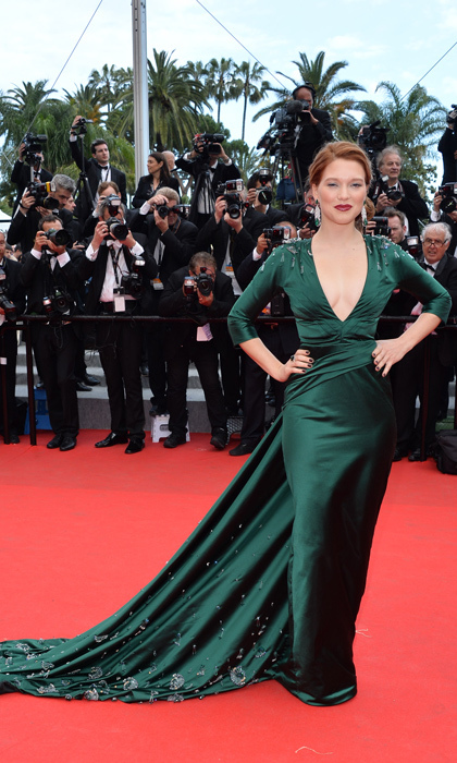 In sexy Prada at the 'Saint Laurent' premiere during the 2014 Cannes Film Festival. 