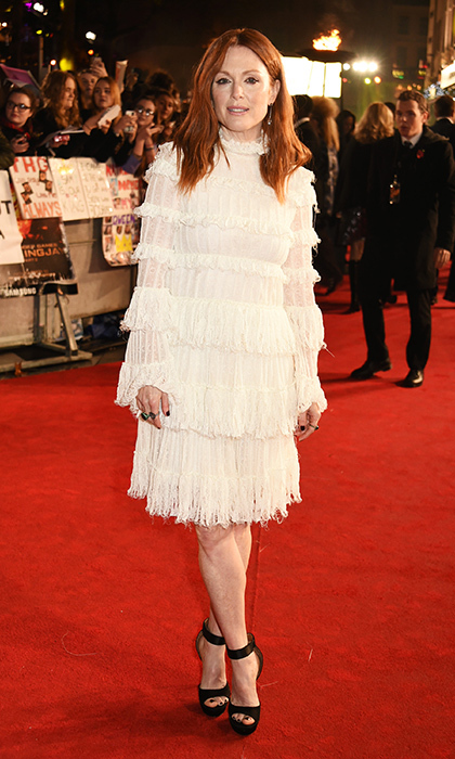 Julianne Moore in Alexander McQueen in London