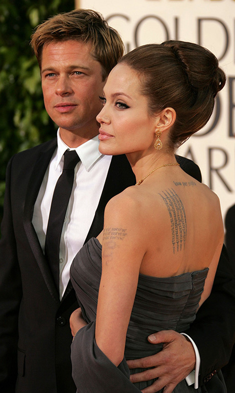 January 2007: Stunning Brad and Angelina had definitely earned their reputation as red-carpet icons by the 64th annual Golden Globes in Beverly Hills. 
