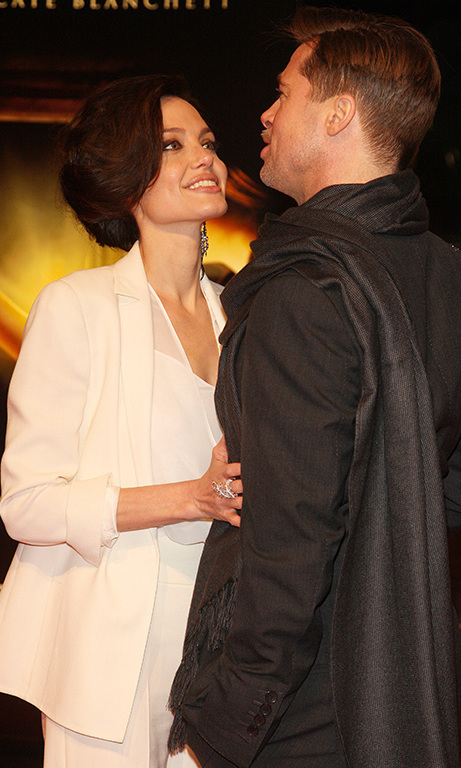 January 2009: Angelina and Brad took their love abroad once again for the premiere of 'The Curious Case of Benjamin Button' in Berlin, where Angelina gazed adoringly at her partner. 