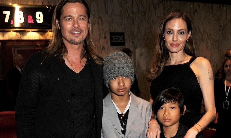 June 2013: It was a family affair at the premiere of 'World War Z,' when Brad and Angelina walked the red carpet with sons Maddox and Pax. 