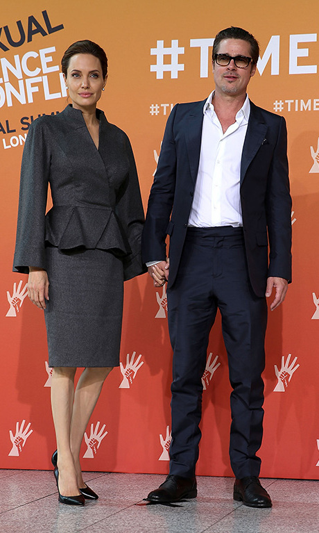 June 2014: Not only have they changed eachother's lives, but this couple is ready to change the world! Brad showed support for Angelina during her speech at the Global Summit to End Sexual Violence in Conflict in London. 