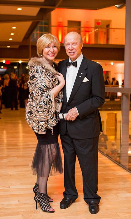 Canadian businessman and philanthropist Leslie Dan and his wife Anna Dan.