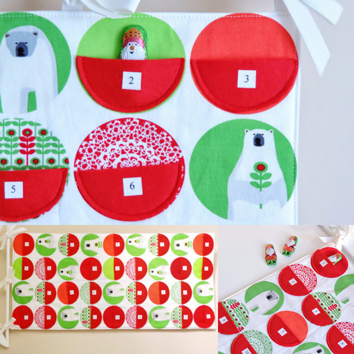 Christmas Advent Calendar by GoodWishes Quilts, $129, <em>esty.com</em> 