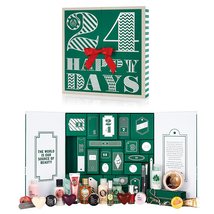 The Body Shop 24 Happy Days Advent Calendar, $99, <em>thebodyshop.ca</em>