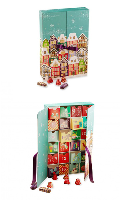 Purdys Winter Village Advent Calendar, $25, <em>purdys.com</em> 