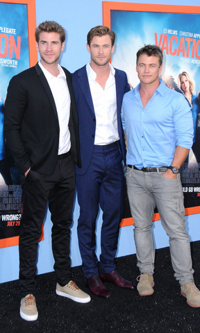 <h2>Liam, Chris and Luke Hemsworth</h2>