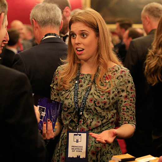Princess Beatrice attends an entrepreneurial networking event organized by her father, Prince Andrew, at St. Jame's Palace in London. 