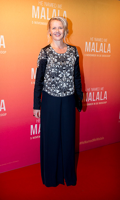 Princess Mabel of the Netherlands attends an event for 'He Named Me Malala,' a documentary about Pakistani activist Malala Yousafzai.