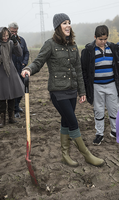 Princess Mary of Denmark opening the Replant the World campaign by planting trees in the Prinsesselunden.