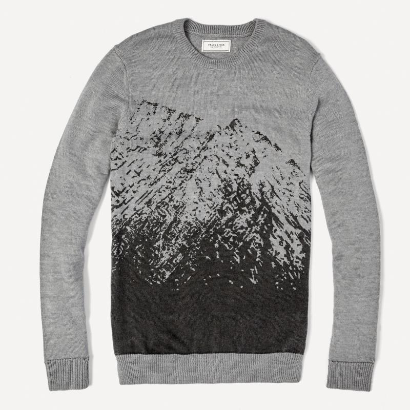 Frank & Oak Printed Mountain Crewneck Sweater, $86, frankandoak.com. 