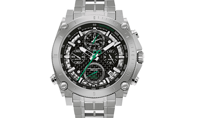 Bulova's 140th Anniversary Special Edition Precisionist Chronograph Men's Watch, $925, bulova.com/en-ca. 